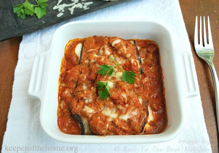 Eggplant Cannelloni {Grain Free Recipe