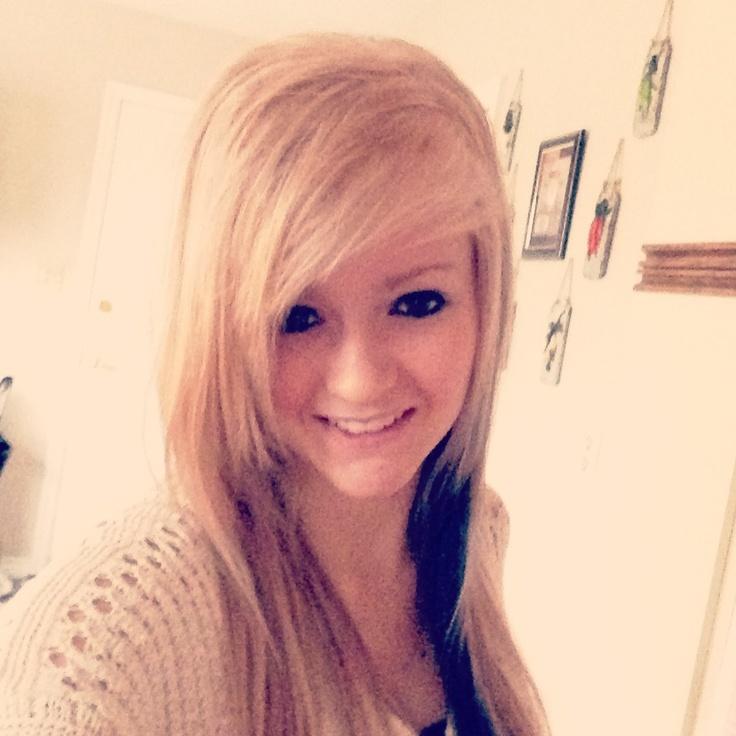 Blonde hair with black peekaboo   My Style   Pinterest