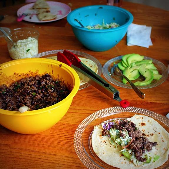 Black bean tacos and cilantro slaw | Dinner Time!! | Pinterest