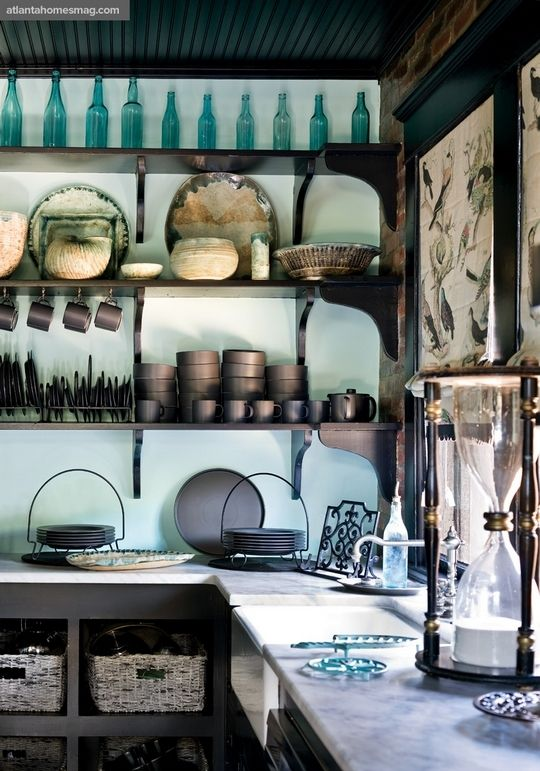 Turquoise and Brown Kitchen  Ideas for my future home  Pinterest