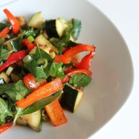 Grilled Spicy Zucchini Salad | Spice Things Up | Pinterest
