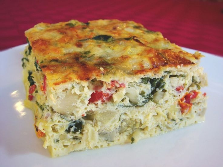 Baked Frittata With Artichokes, Sun Dried Tomatoes, And ...