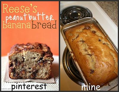 Reeses peanut butter banana bread! yes. | Guilty pleasures | Pinterest