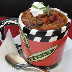 Laura's Quick Slow Cooker Turkey Chili: DONE. So easy to make and very ...