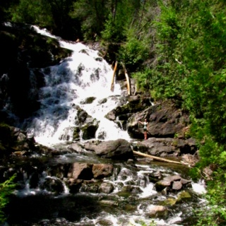 Hidden Falls. Temiscaming Quebec