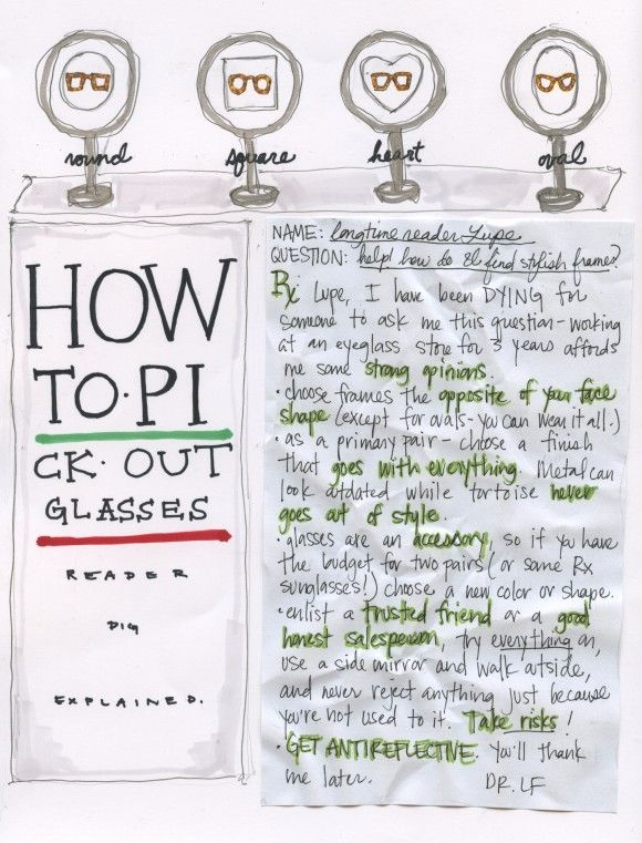 How To Pick Glasses Frames To Suit Your Face : how to pick glasses for your face shape Style and ...