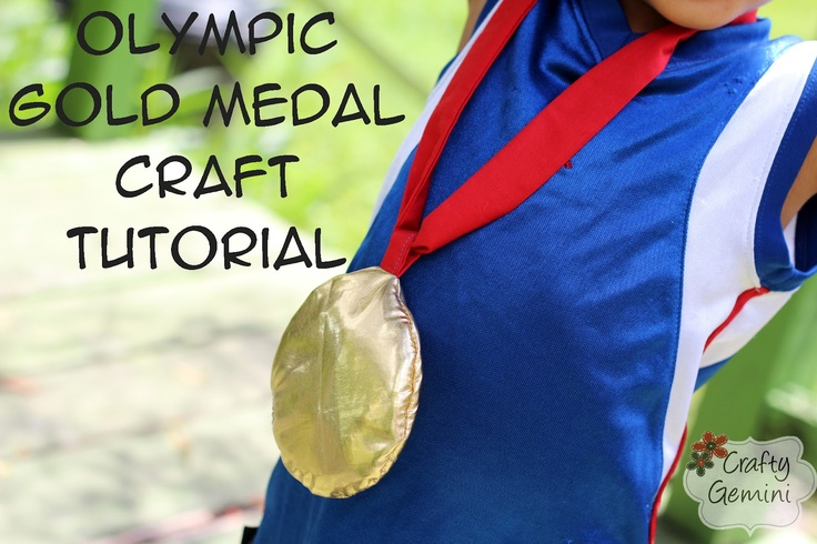 2012 Olympics Gold Medal Craft Project Tutorial by @CraftyGemini. Learn to sew a fabric gold medal for your kids.