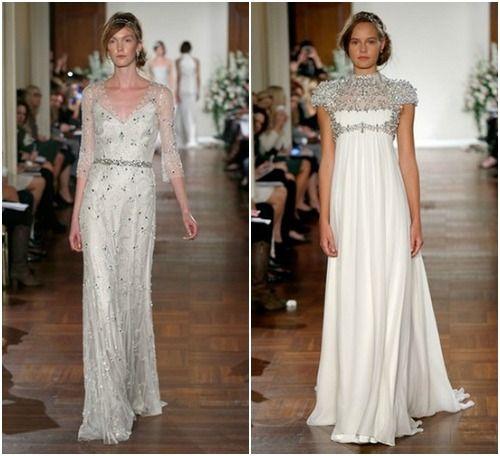 Robes de mariée avec des cristaux Swarovsky. Jenny Packham automne ...