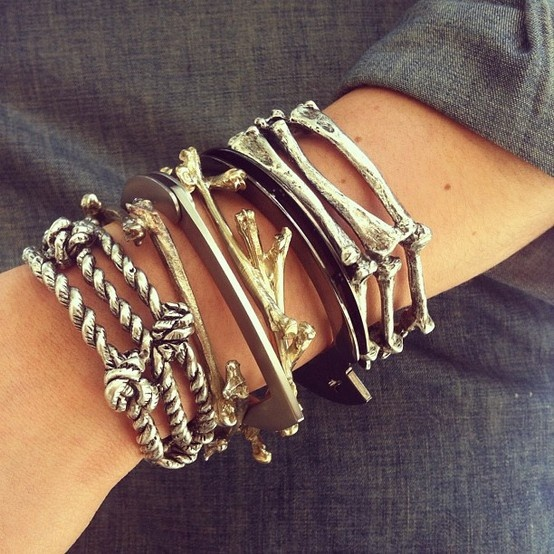 Stack of Bones Bracelet | Chic / Chicks | Pinterest