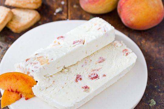 Peaches and Cream Semifreddo via the kitchn.