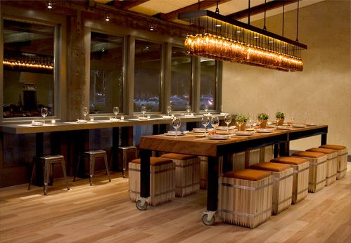 Communal table design pinterest - Restaurant communal tables ...