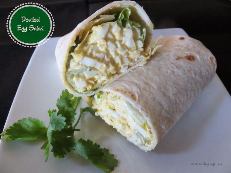 Deviled Egg Salad | Wrap Recipes | Pinterest