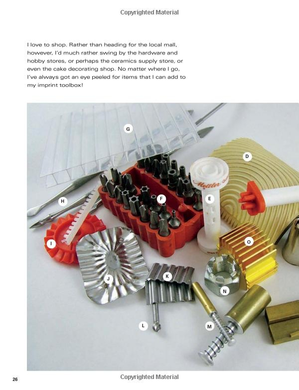 tool inspirations from Patterns in Polymer (Paperback) by Julie Picarello
