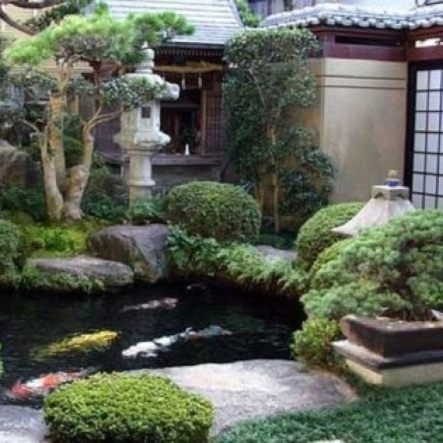 Zen garden koi pond japanese garden pinterest for Backyard japanese garden ideas