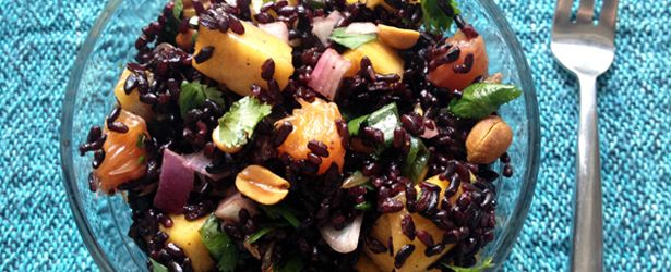 Black Rice Salad with Mango and Peanuts | Recipe
