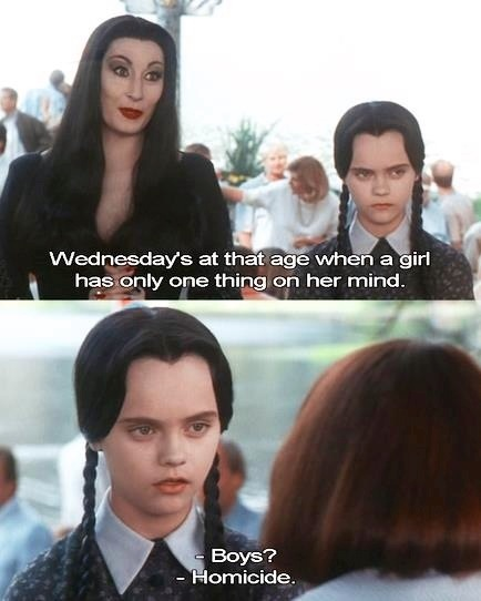 Wednesday Addams Quotes Love. QuotesGram