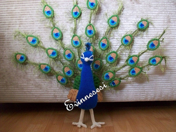 crochet peacock PEACOCK needlework Pinterest