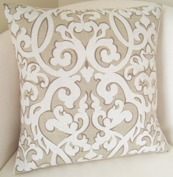Decorative Pillow Cover Neutral Pillow Scroll Cushion Throw Pillow Ac ...