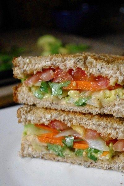 Avocado & Spiced Hummus Sandwich | BURGERS & SANDWICHES | Pinterest