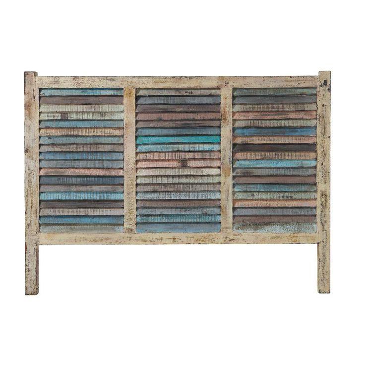 Tête de lit 140 bois recyclé BAHIA  New Indus  Pinterest