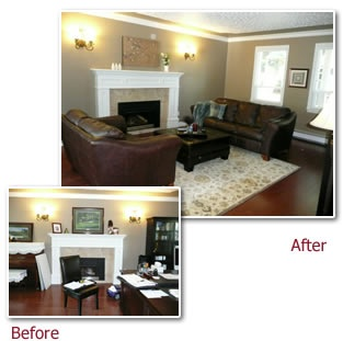 Before and after staging staging homes for sale pinterest for Staging before and after
