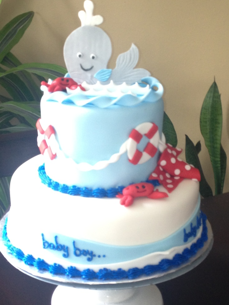 whale crabs baby shower cake chunky monkey cakes pinterest
