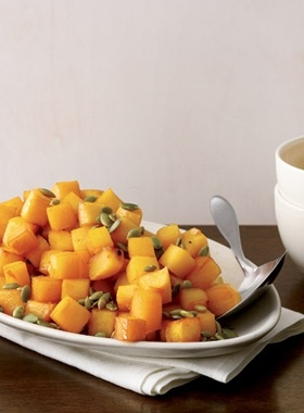 Maple-Glazed Rutabaga With Toasted Pumpkin Seeds... a little different ...