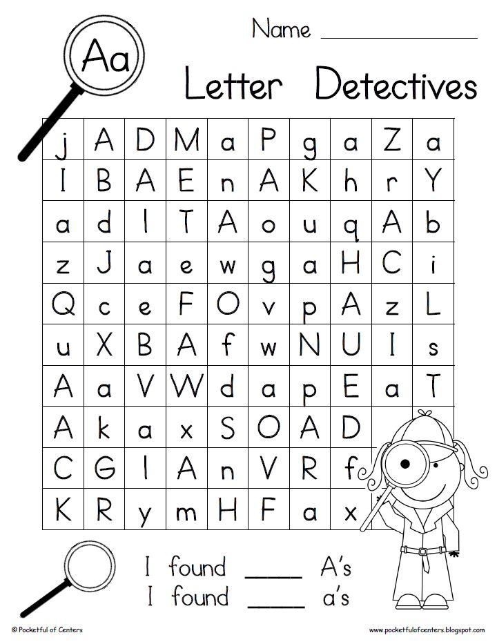 Find The Letter D Worksheet Letter detectives worksheets