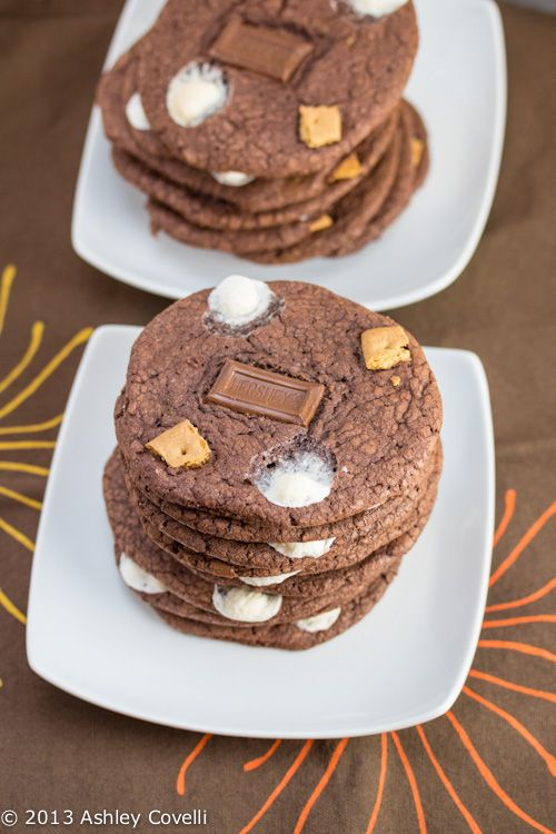 Chocolate Cake S'mores Cookies | S'mores | Pinterest