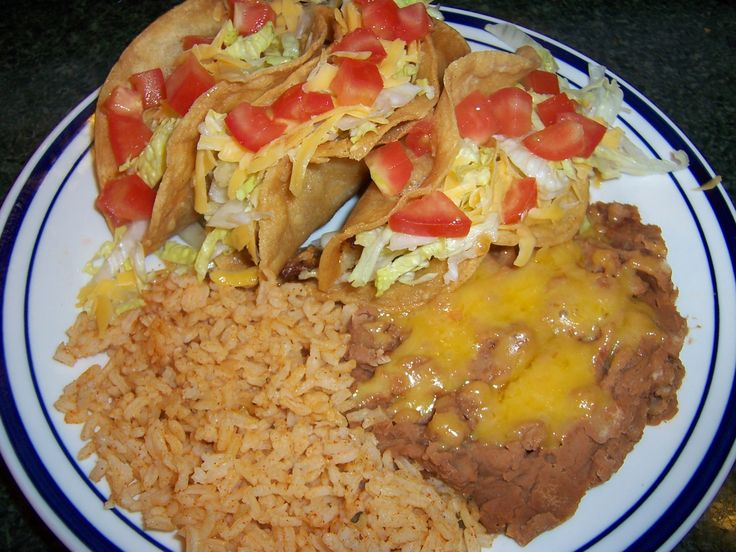 Mexican Rice & Re fried Beans | Reminds me of Grandma | Pinterest