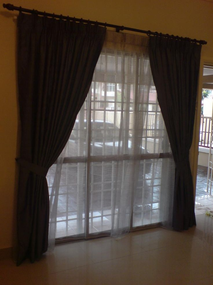 Sliding Door Curtain Ideas Pictures For The Home Pinterest