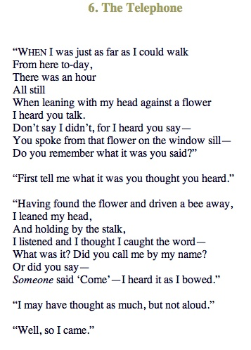 The Telephone - Robert Frost Flower represents a telephone between the ... Ray Bradbury Love Quotes