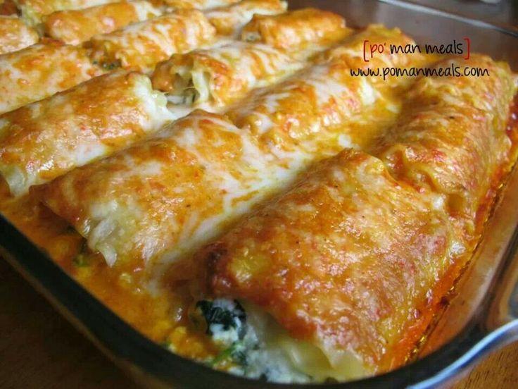 Spinach lasagna rolls | Lasagna | Pinterest