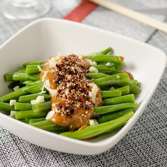 Green Beans with Spicy Peanut Sauce | Use peanut butter to create a ...