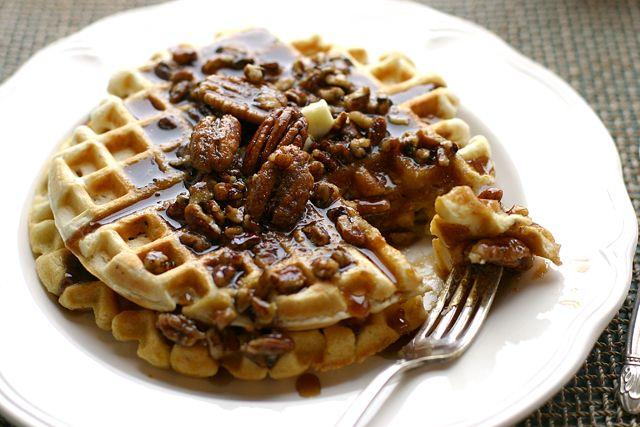 Waffle House Giant Pecan Waffles. These were a hit for my husband on ...