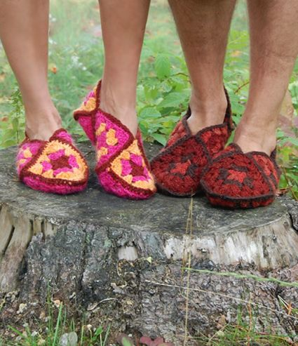 granny square slipper