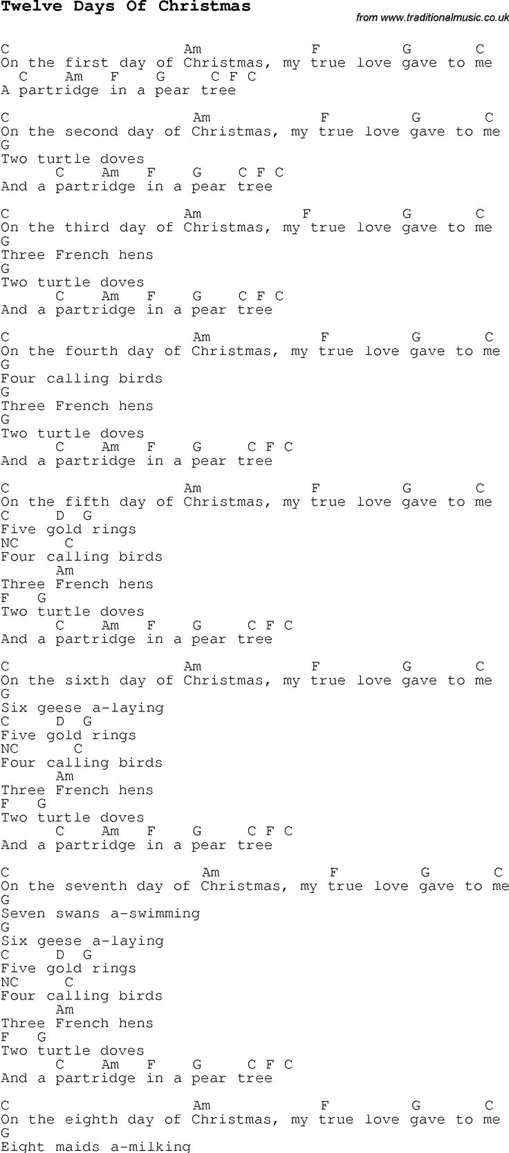 Christmas song lyrics chords new yearfo 2019 hexwebz Gallery