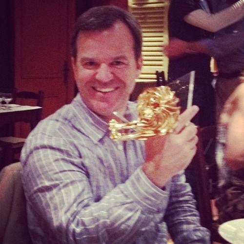 "@globalchatter: ""Colin Kinsella , Digitas CEO holding Digitas' 8th Canne Lion"""
