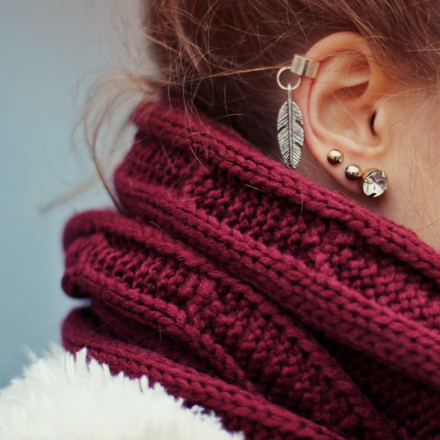 Feather Cuff Earing