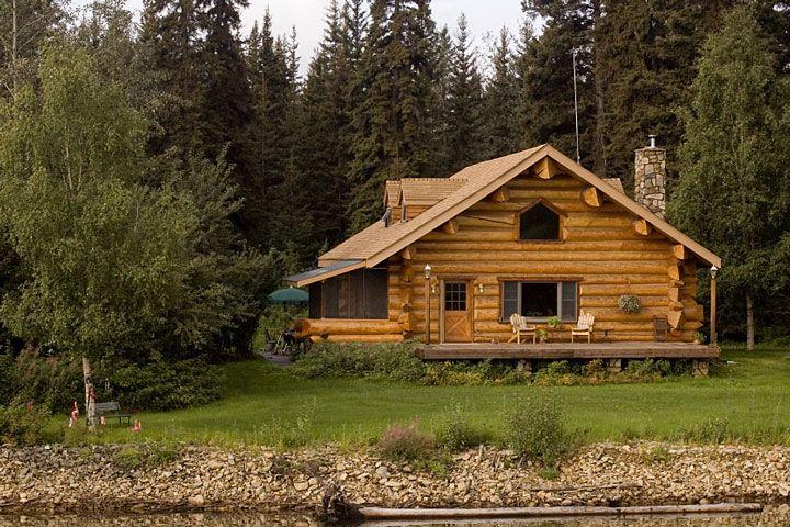 Wow a log home in alaska cabin fever pinterest for Cabin builders alaska