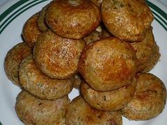 Perkedel Kentang - potato fritters. Mashed potato mixed with egg, salt ...
