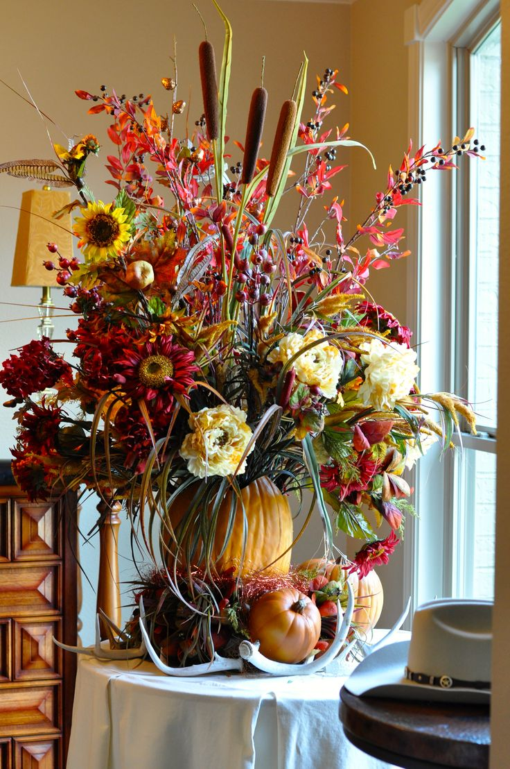 Fall Floral Arrangement Floral Centerpiece Decor