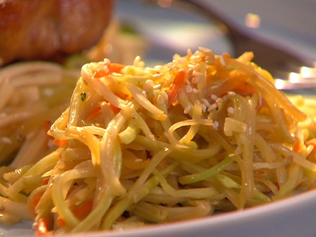 Sauteed Asian Broccoli Slaw: I sauteed some diced onion and garlic ...