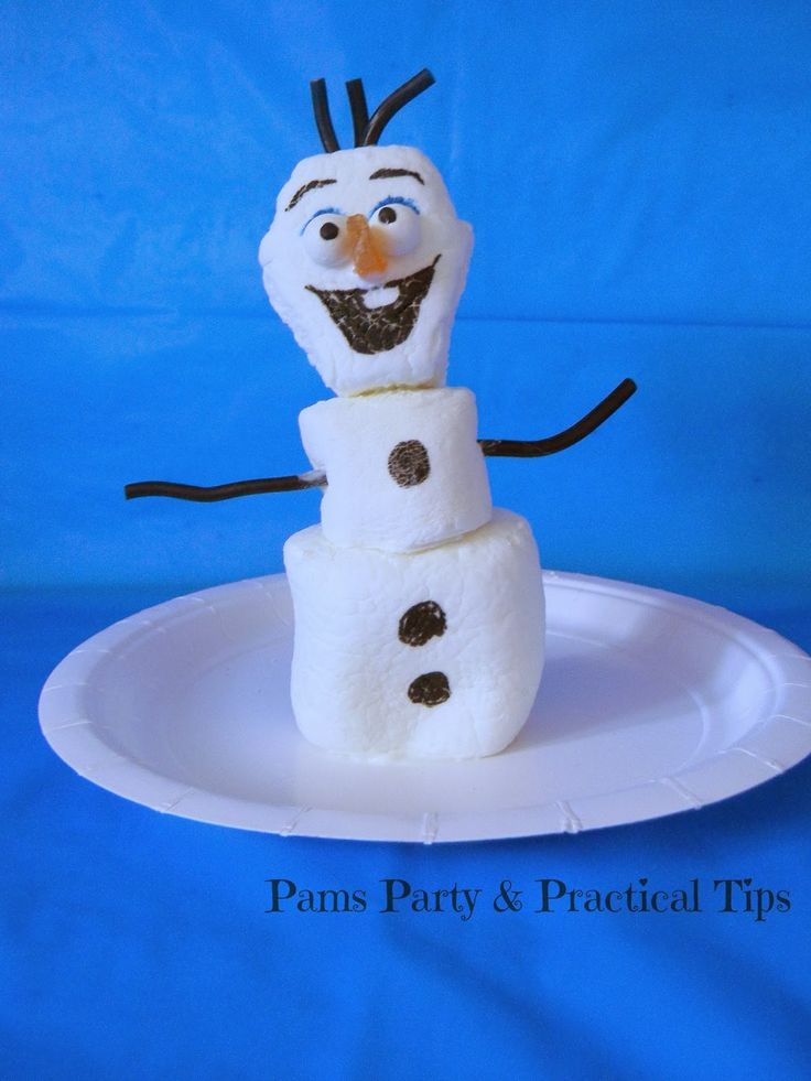Marshmallow olaf young child birthday party pinterest