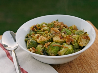 Braised Brussels Sprouts with Shallots and Parmesan Recipe