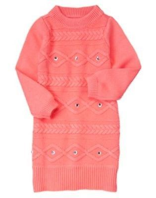 Nwt gymboree girl gem cable sweater dress size 5 quot quot snowflake glamour