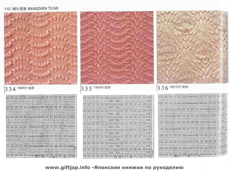 Схемы вязания на спицах комбинированные