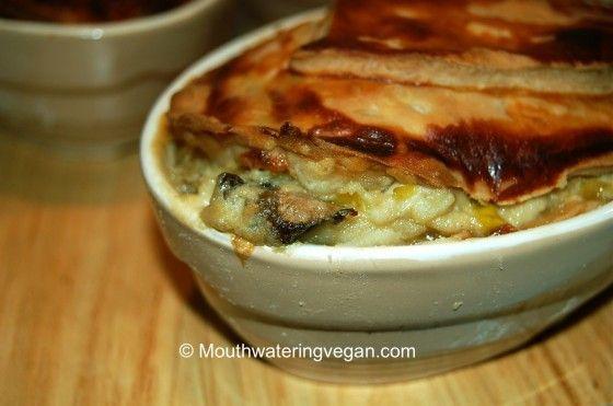 Hearty Creamy Leek & Mushroom Pies - Mouthwatering Vegan Recipes ...