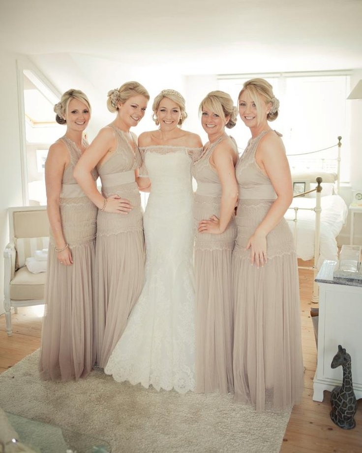 Neutral Bridesmaid Gowns Marriage And That Special Day