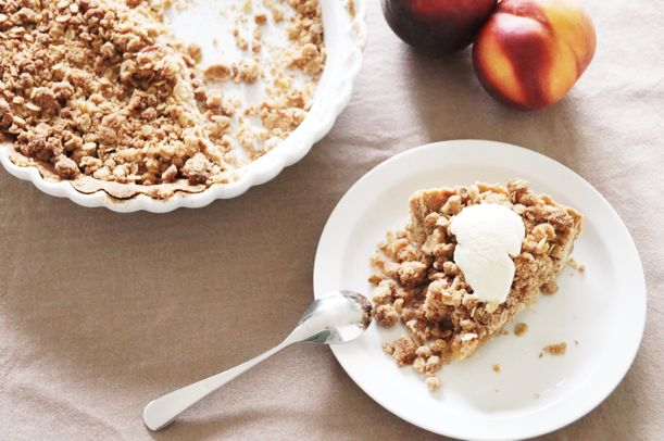 ... whole-wheat-plum-crumble-pie-174294 Just use peaches instead of plum